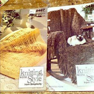 Vintage Afghan Knitting Books